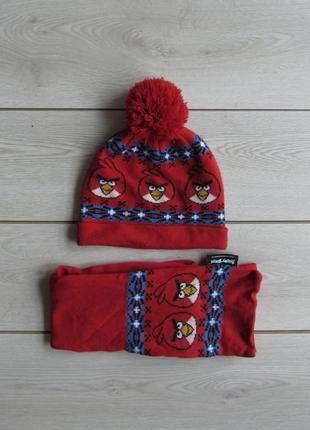 Шапка + шарф angry birds
