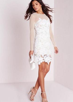 Сукня міні з білим мереживом missguided ❤️