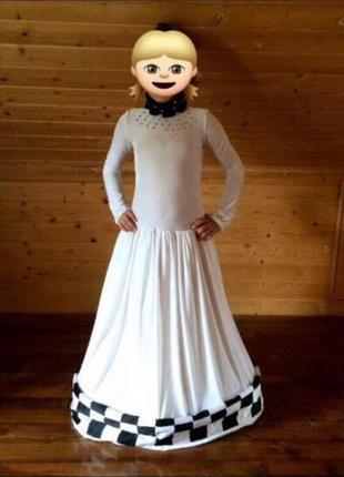 Біле бархатне бальне плаття,белое бархатное платье,новогодний костюм