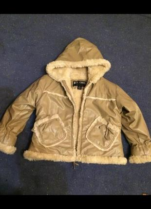 Стильна дубльонка на 4-5 років, дубленка, куртка