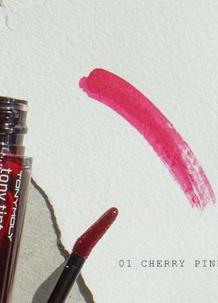 Тинт для губ tony moly delight tony tint - cherry pink2