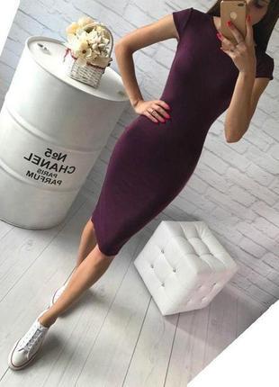 Стильное летнее платье миди по фигуре