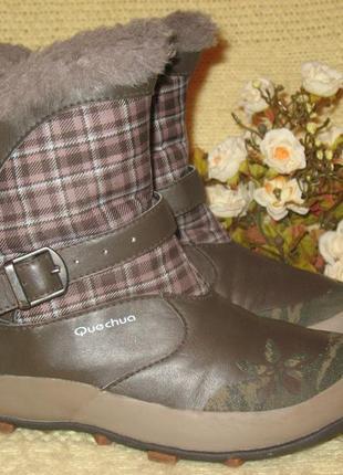 Фирменные,зимние термо-сапоги quechua очень тёплая модель