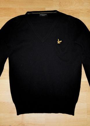 Lyle & scott черная кофта пуловер шерсть