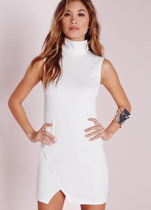 Новогодняя распродажа! неопреновое платье по фигуре с горлышком missguided размеры xs-m-xl