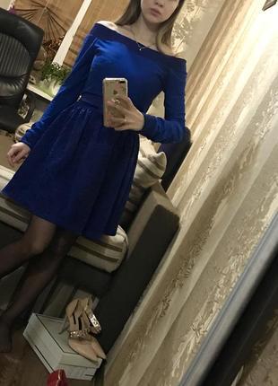 Яркое платье электрик+ синее платье в подарок🎁