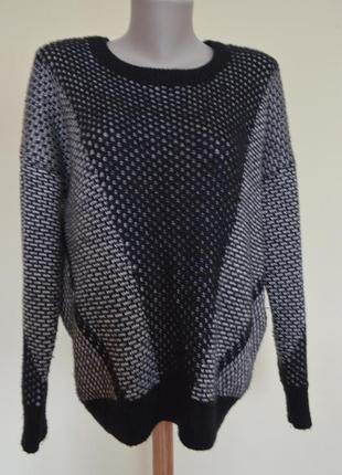 Красивая теплая кофта джемпер с шерстью