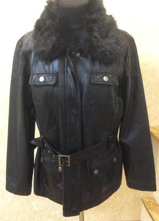 Куртка экокожа чёрная классная
