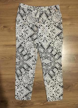 Роскошные натуральные брюки в орнамент!!