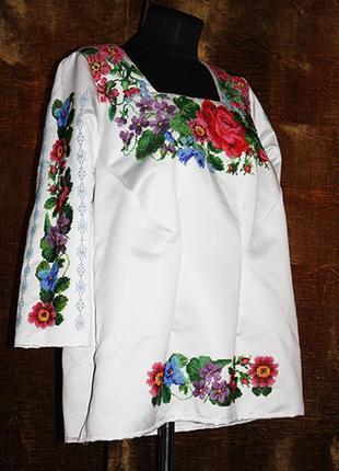 Блуза  вышивкой бисером, р.56-58