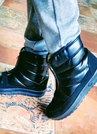 Зимние ботинки-дутики на густом меху!!! до -25! антискользящая  подошва! 37,38,39,40,41