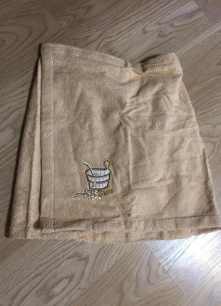 Махровая юбка для сауны 46-52, разные цвета