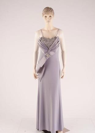 Длинное нарядное выпускное платье с бантом в паетках есть несколько размеров 38 и 40