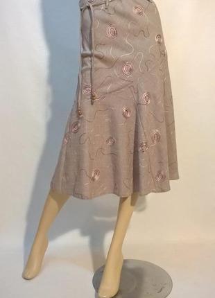 Красивая юбка годе миди с декором