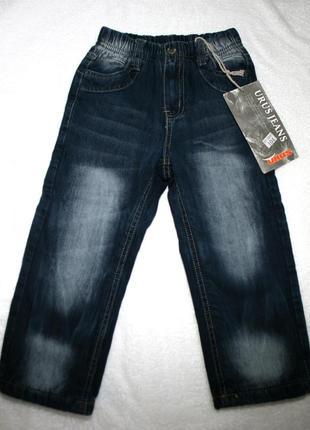 Синие брюки джинсы штаны urus bebe турция с утеплением 98-104cv