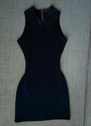 Актуальное крутое платье boohoo с молнией сзади xs-s , юбка в подарок