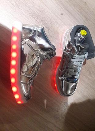 Супер светящиеся led кроссы skechers срочно