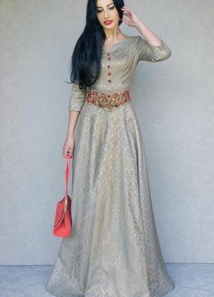 Платье с вышивкой купить, нарядное платье, платье на новый год, длинное платье