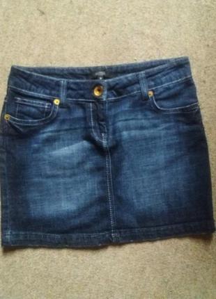 Юбка джинсовая мини спідниця джинсова міні hallhuber