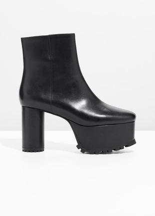 & other stories кожаные ботинки на платформе 36-41