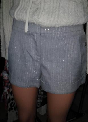 Стильные шорты в тонкую полоску