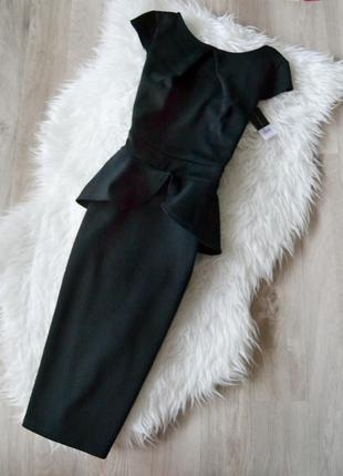 Новое фактурное платье миди  dorothy perkins