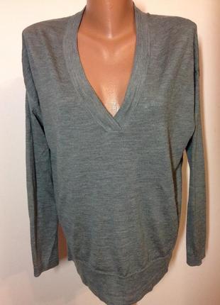 Шерсть мерино! качественный свитшот джемпер свитер оверсайз h&m р.l.