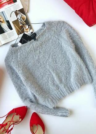 Мягенький свитер-травка укороченный topshop