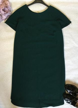 Платье кокон изумрудного цвета atmosphere 20 размер