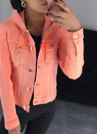 Джинсовка ярко-оранжевая lacoste