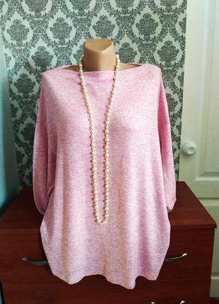 Нежный мягенький джемпер, пуловер, блуза от george, большой размер, uk 20, наш 54