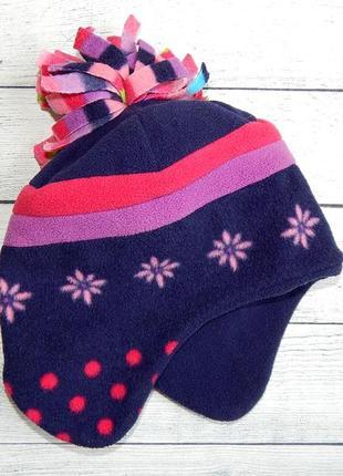 Стильная шапка на флисе george, для девочки 1-3 года. 81-98 см. осень/весна.