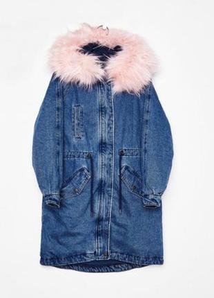 Куртка парка bershka джинсовая