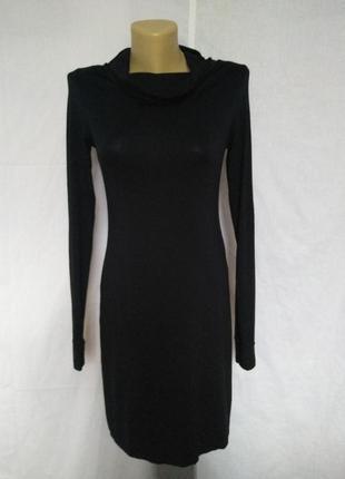 Стильное трикотажное черное поатье,сзади молния inwear