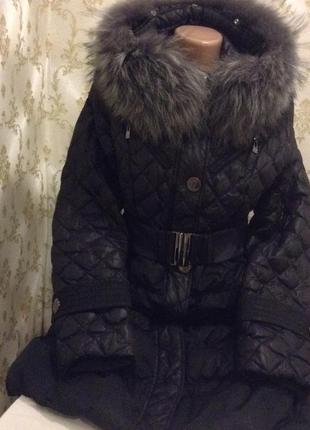 Пуховик с натуральным мехом snowimage