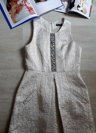 Серебряное платье / платье с камнями/ 2я вещь в подарок