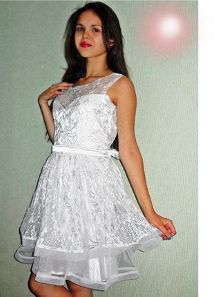 Выпускное свадебное платье, размер 46-48