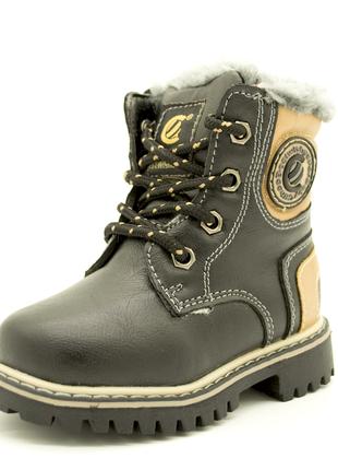 Ботинки зимние clibee с высоким задником 21-26 размеры2