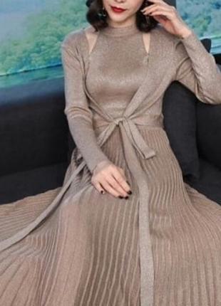 Люрексовое платье двойка
