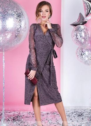 Платье люрекс блестки новогоднее пайетки