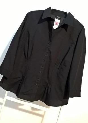 -50% на вторую вещь!!! черная рубашка большой размер