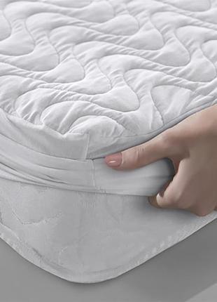 Наматрасник  leleka-textile с бортом белый хлопковый