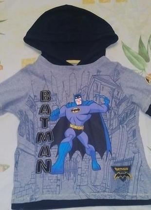 Новогодний костюм бэтмена (кофта) marks&spencer на 3-4 г, рост 104см