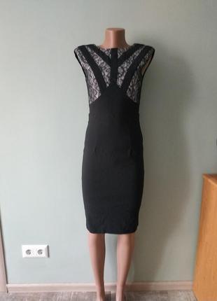 Большой выбор платьев - шикарное платье миди с кружевом