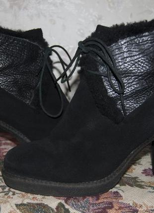 Зимние ботинки на каблуке 40 размер