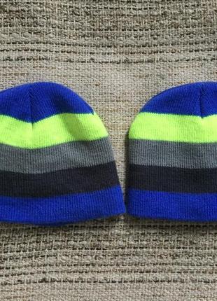 Комплектом шапочки двойные демисезонные яркие в полоску healthtex близнецам двойняшкам