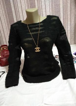 Крутой свитер паутинка из шерсти, обалденная вязка! тотальная распродажа в профиле!