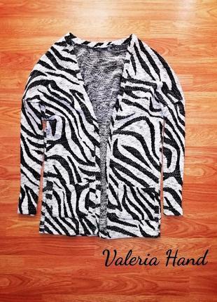 Отличная актуальная плотная кофта - stradivarius - принт зебры - размер 46-48