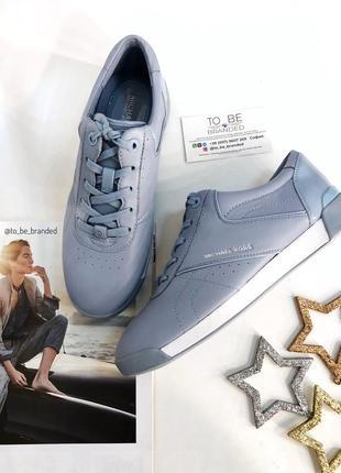 Удобные стильные кожаные голубые кеды michael kors майкл корс оригинал