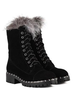 1088ц женские ботинки brocoli,замшевые,на толстой подошве,на толстом каблуке,на каблуке